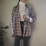【 THE SHINZONE 】バックプリントロンT・チェックシャツ・ニットキャップ //