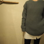 //RIM.ARK//新作☆☆Docking knit tops &  Back open dolman シャツ