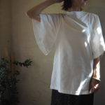 【styling/】フレアースリーブカットプルオーバー・つるっと素敵に♡ドットサテンスカート