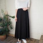 【 MAISON MERVERICK PREZENTS 】シアータートル・ドッキングラップスカート・レザーロゴスニーカー//