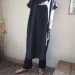 【Ottilie】裾ボタンワンピース&ドットフレアースカート