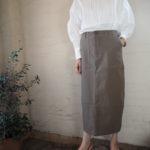 【 quand 】ピンタックブラウス・ミリタリースカート 【 Little Parisienne 】ワンショルダーリメイクバッグ //