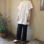 シンプルTコーデ+夏素材ベレー帽で大人スタイリング!